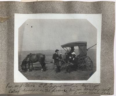 , 1904. About very good.. Twenty-seven silver gelatin photographs and six postcards on eighteen leav...