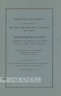 New York: Printed for the Society, 1931. stiff paper wrappers. Eames, Wilberforce. 8vo. stiff paper ...