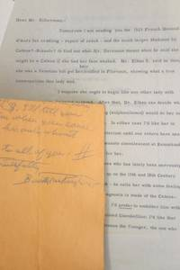 Autograph Letter, Signed, To one of the Silberman Brothers Discussing Artwork