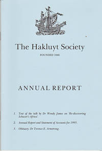 Re-discovering Schuver's Africa (Hakluyt Society Annual Lecture, 1995)