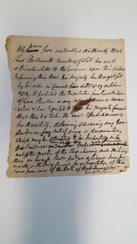 Printer's Copy? Important News on the Prohibition of Arms and Gunpowder into the Colonies, 1774
