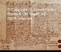 image of A Manuscript document in English recording a transfer of ownership from Luke van Thinehoven, a surgeon, to Sampson Benson for a lot situated on Smith Street, owned by van Thinehoven and sold to Sampson Benson.