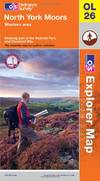 image of North York Moors - Western Area (OS Explorer Map)