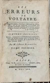 image of Les erreurs de voltaire - Tome Première 1770