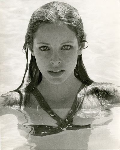 N.p.: N.p., 1970. Vintage oversized double weight press photograph of actress Sydne Rome, circa 1970...