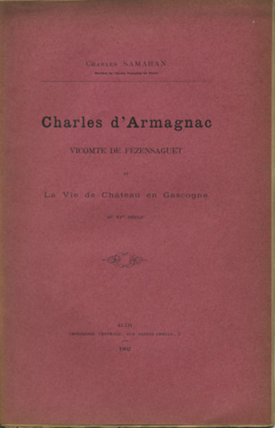 Auch, France: Imprimerie Centrale, 1902. First edition. Paper wrappers. A very good copy with sunned...