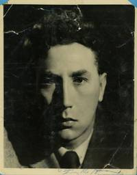 Large early press photo, signed on the white bottom edge and inscribed (Frankie, 1921-1992, British Eccentric Comedian)