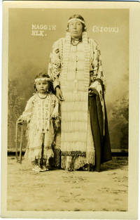Maggie Elk [Sioux] Indian Real-Photo Postcard
