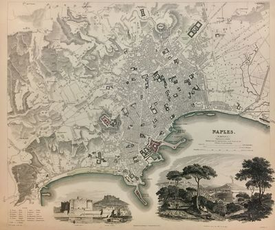 London: SDUK, 1835. unbound. Map. Engraving with original hand outline. 13.25
