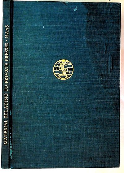 Chicago: The Black Cat Press, 1937. Hardcover. Very Good -. Hardcover. Blue cloth covered boards wit...
