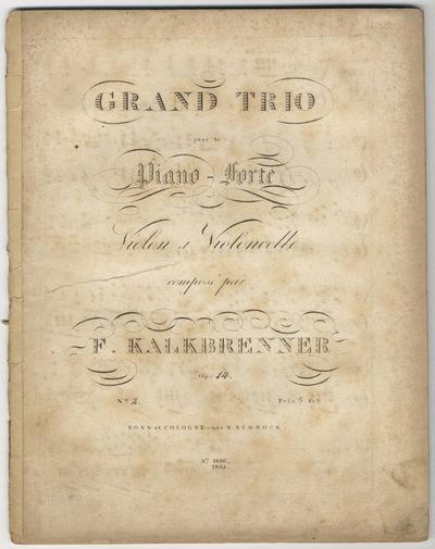 Bonn et Cologne: N. Simrock , 1822. Folio. Pianoforte part disbound; string parts unbound, with cent...