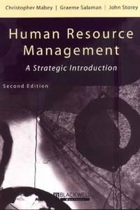 Human Resource Management : A Strategic Introduction