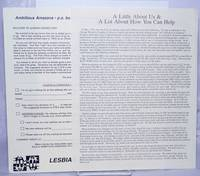 image of Lesbian Connection informational letter