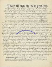 """Hetty Green, """"The Witch Of Wall Street"""", Sells Land In Massachusetts; Both She And Her Husband Sign The Legal Document"""
