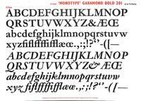 Monotype Garamond Bold 201 (72 Point, 6 to 72 Point)