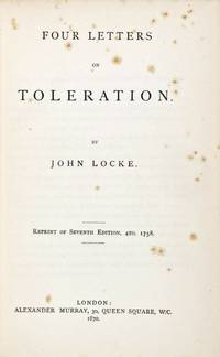 image of Four Letters on Toleration