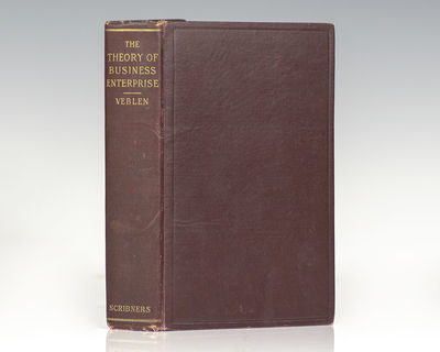 New York: Charles Scribner's Sons, 1904. First edition of Veblen's second book, a seminal work in ec...