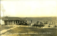 image of Where Thousands Eat Lobsters, Parkers Lobster Pound, Searsport, ME - Real Photo Postcard
