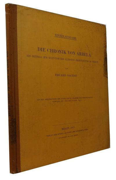 Berlin: Der Koniglich Akademie des Wissenschaften, 1915. Hardcover. Good. 3 maps on 2 sheets (one fo...