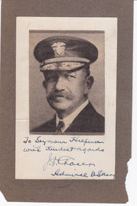 image of MAGAZINE PORTRAIT INSCRIBED AND SIGNED BY U.S. NAVAL OFFICER REAR ADMIRAL JEHU V. CHASE.