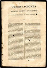 [drop-title] Observaciones sobre algunos escritos publicados con motivo del nombramiento del señor Viscarra.