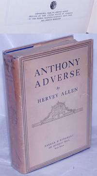 image of Anthony Adverse: a novel
