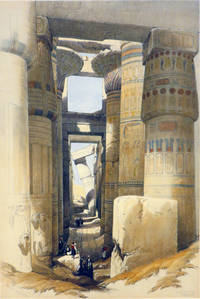 KARNAC [a View Looking Across the Hall of Columns, being an Original Hand-Coloured Lithograph...