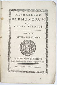 image of Alphabetum Barmanorum seu regni avensis. Editio altera emendatior.