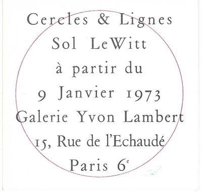 Cercles & Lignes, Sol LeWitta...