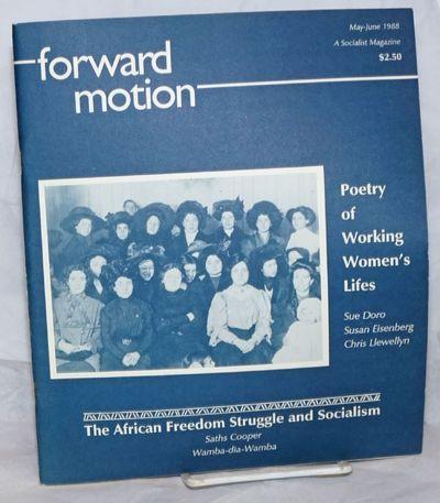 New York; Boston: Proletarian Unity League, 1988. 34p., staplebound wraps, 8.5x11 inches, rear cover...