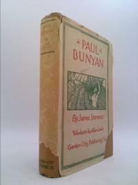 image of Paul Bunyan; woodcuts by Allen Lewis.