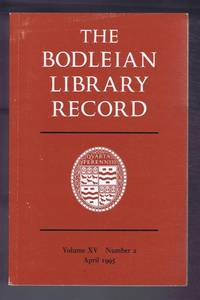 The Bodleian Library Record, Volume 15 Number 2, April 1995
