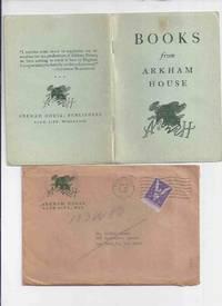 ( MAYS # 9 / HERRON # 11 ) ARKHAM HOUSE Ephemera in original mailing envelope::  Books from Arkham House ( Stock List /  Catalog / Catalogue )