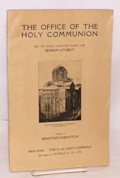 New York: H.W. Gray Company, 1918. 32p., lightly edgeworn wraps, 7x10.5 inches. English words set to...