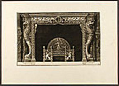 {Rome], 1790. Etched plate, on laid paper, by Piranesi. In good condition with large margins. Waterm...