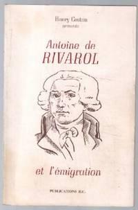 Antoine de rivarol et l'émigration
