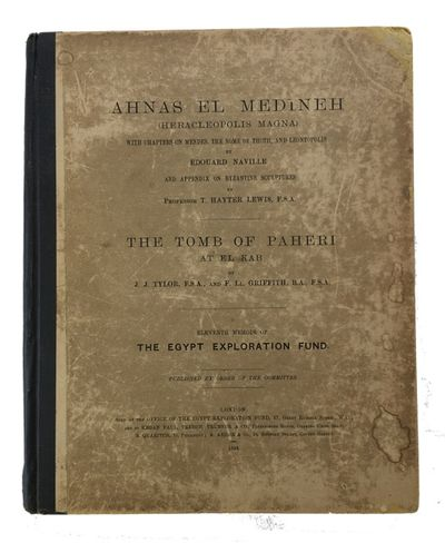 London: Sold at the Office of the Egypt Exploration Fund , 1894. 1st ed. Hardcover. Good. frontis, 2...