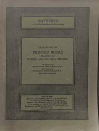 Sale 1 December 1980: Printed books relating to science and natural  history.