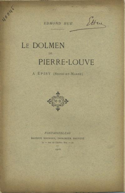 Fontainebleau: Maurice Bourges, Imprimeur Breveté, 1906. Offprint. Paper wrappers. A very good copy...