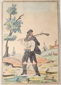 Seven Folk Art Watercolors of Hunters