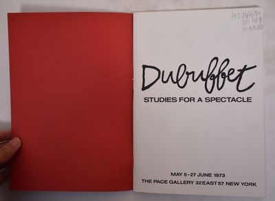 New York: Pace Gallery, 1973. Paperback. VG- light scuffing to wraps.. Black and illustrarted staple...