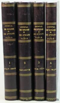 Table analytique et alphabétique du Journal des Notaires & des Avocats et du...