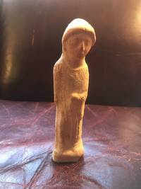 Phoenician Terracotta Goddess Original Pre-Christian Statue For Sale