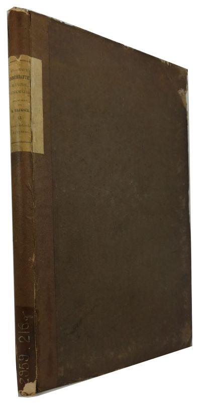 Leipzig: Verlag der J. C. Hinrichs'schen Buchhandlung; Paris: A. Franck, 1858. Hardcover. Fair. 23 p...