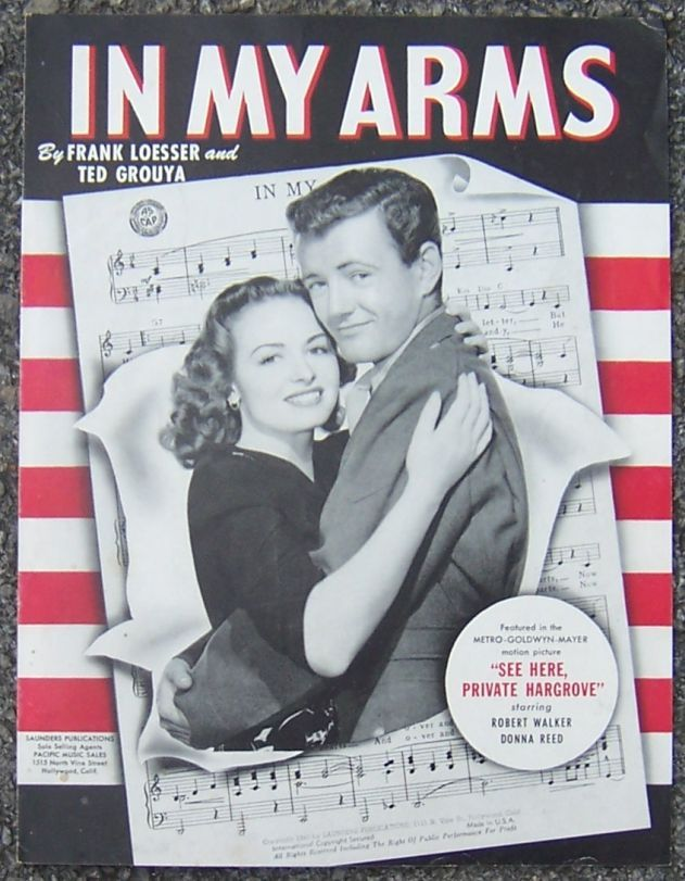 IN MY ARMS, Sheet Music