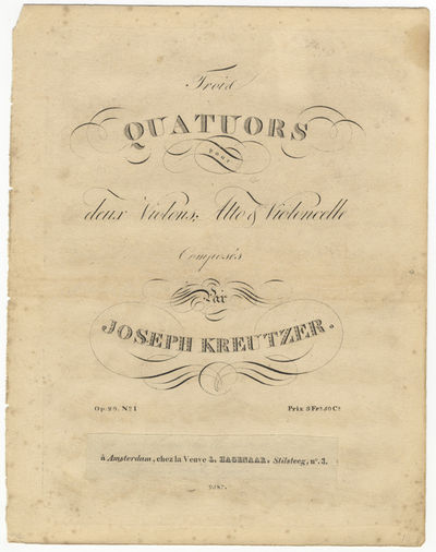 Bonn: N. Simrock , 1827. Folio. Disbound and laid into individual heavy contemporary paper wrappers....