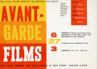 image of Avant-Garde Films presented by The Gryphon Film Group at the Living Theatre in New York, April 27th, 1959