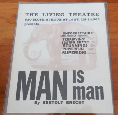 New York: Living Theatre, 1962. First edition. Loose Sheets. Near Fine. Single sheet of illustrated ...