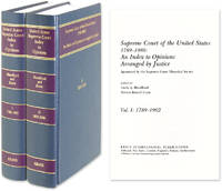 Supreme Court of the United States 1789-1980 Index to Opinions 2 vols