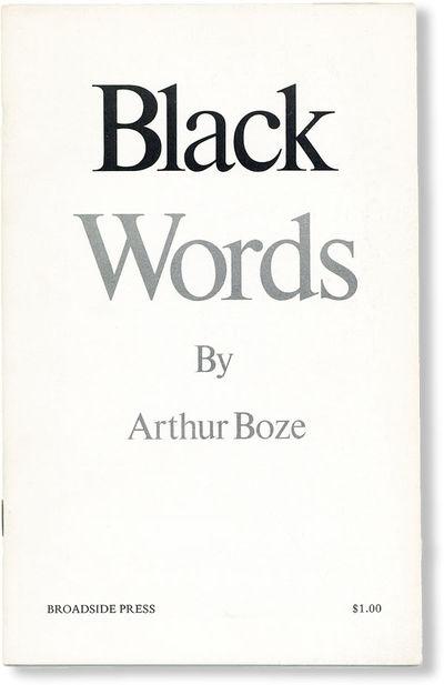 Detroit: Broadside Press, 1972. First Edition. First printing. Slim octavo (21.5cm); printed card wr...